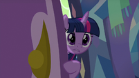 Twilight peeks into Spike's bedroom S8E24