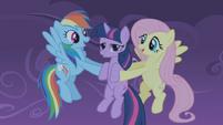 772px-Fluttershy and rainbowdash catch twilight S01E02