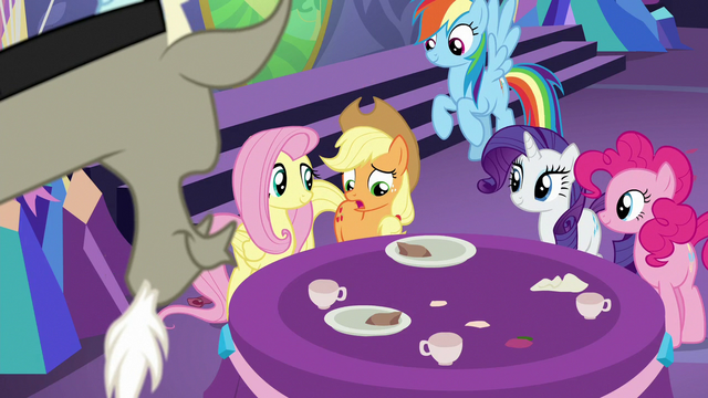 """File:Applejack """"she didn't tell any of us"""" S7E1.png"""