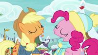 Applejack and Pinkie Pie sing together MLPBGE