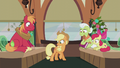 Applejack looking at her present S5E20.png