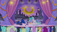 Celestia and Luna join Twilight on stage S9E17