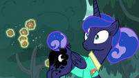 Celestia pulls all of Luna's prickle pods at once S9E13