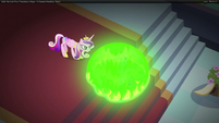 Chrysalis makes Twilight sink into the caverns S2E25