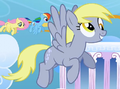 Derpy flying around in Cloudsdale ID S1E16.png