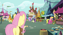 Fluttershy at Town Square S2E19