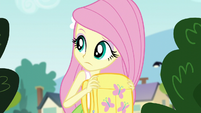 Fluttershy makes sure no one is around EG3