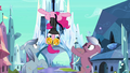 Pinkie Pie hanging on upside down S3E1.png