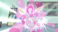 Pinkie makes a magic burst of balloons EG3