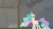 Princess Celestia standing behind Twilight S8E7