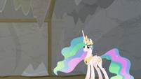 Princess Celestia standing behind Twilight S8E7