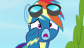 "Rainbow ""they don't wanna hear about your bath time!"" S7E7.png"