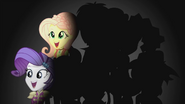 Rarity and Fluttershy on darkened background EG2