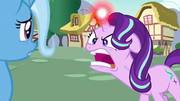 Starlight Glimmer shouts enraged at Trixie S7E2