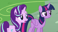 Starlight and Twilight offended by Ember's words S7E15