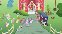 Students watch Diamond Tiara S5E18
