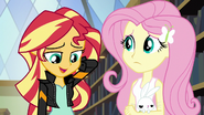 Sunset apologizing to Fluttershy EG3
