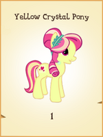 Yellow Crystal Pony MLP Gameloft