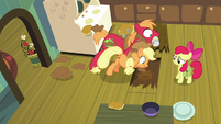 AJ and Big Mac dig hole under floorboards S7E13