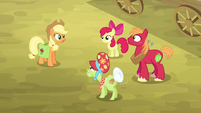 Applejack and her family gathered S4E09