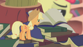 Applejack becomes suspicious of Apple Bloom S1E09.png