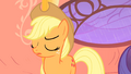 "Applejack dares Rarity ""lighten up and stop obsessin'"" S1E08.png"