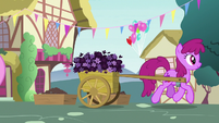 Berryshine carting flowers away S7E15