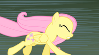 Fluttershy running with her eyes closed S1E17
