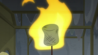 Giant marshmallow bursts into flames S8E7
