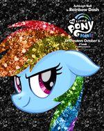 MLP The Movie Rainbow Dash '1week' poster