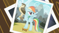 Picture of Rainbow Dash with the falcon S2E07