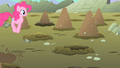 Pinkie Pie happily heading towards a hole S1E19.png