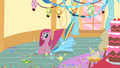 Pinkie Pie sits on Rainbow's head S1E25.png