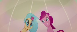 Pinkie and Skystar's reflections on an oyster MLPTM