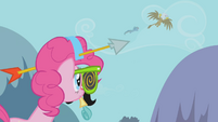 Pinkie sees RD and Gilda fly off S1E05