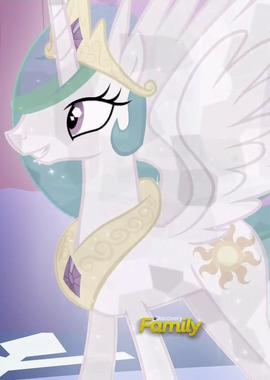 Princesa Celestia como poni de cristal ID T6E2