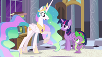 Princess Celestia -it must've been difficult- S4E01