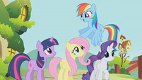 "Rainbow Dash ""drive 'em back into the forest"" S1E10"