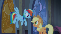 Rainbow Dash and Applejack relieved S4E03