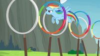 Rainbow going through the rings S4E10