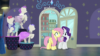 Rarity and Fluttershy enter Rarity For You S8E4