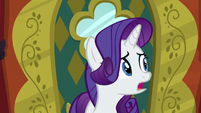 Rarity looking nervous in The Tasty Treat S6E12