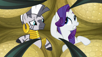 Rarity still can't understand Zecora S8E11