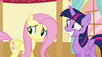 Twilight and Fluttershy hear Applejack S5E11