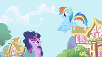Twilight talks to Rainbow Dash about clearing the clouds S1E01