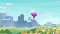 Twinkling Balloon approaching Ponyville S7E11