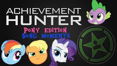 Achievement Hunter Lets Plays Pony Edition Best Song Moments (MLP FIM Parody) (Christmas Special)