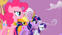 Applejack Twilight Sparkle Rarity Pinkie Pie Speech2 S2E2