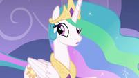 Celestia looks back at Twilight and Spike S8E7
