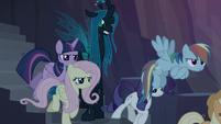 Clone ponies following Chrysalis' orders S8E13